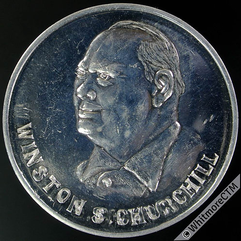 1965 Winston Churchill Medal 33mm Britannia. Alum. Fantasy by Adams of Leeds