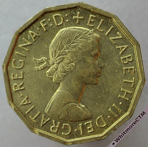 1960 British Brass Threepence - Elizabeth II