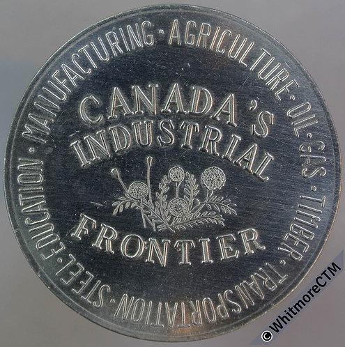 Canada Edmonton City Hall Canada's Industrial Frontier Medal 34mm Nickel