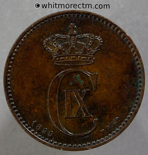 1899 Denmark 2 Ǿre coin