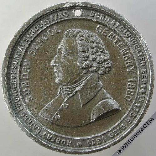 Manchester 1880 Centenary of Sunday Schools Medal 44mm Robert Raikes White metal
