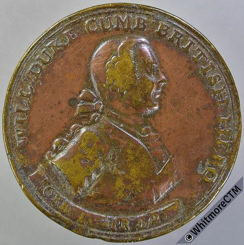1746 Duke of Cumberland Battle of Culloden Medal 36mm MI611/274