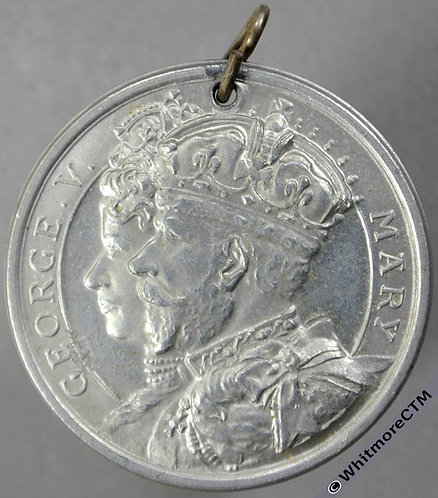 1935 Silver Jubilee of King George V Medal obv 32mm B4264 Aluminium pierced with pin