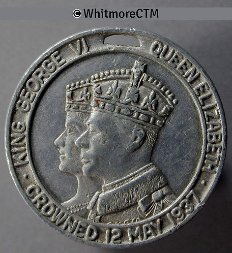 Coronation of George VI Medal 30mm Obv as WE75850 Rev Not in Whittlestone