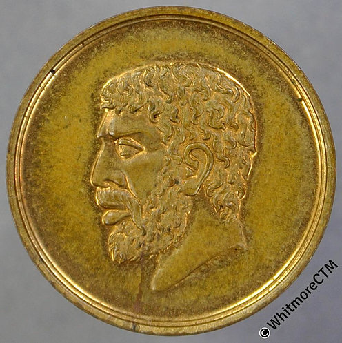 1886 Indian & Colonial Exhibition Medal 19mm B3213 Gilt brass