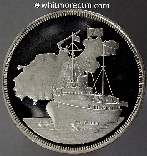 1978 Alderney Royal Visit Medal 39mm Hallmarked Silver proof