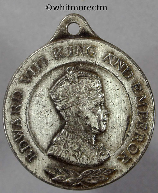 1937 Intended Coronation Medal obv Edward VIII 26mm WE6824A2 silvered Bronze