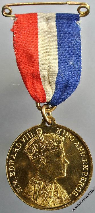 1937 Intended Coronation of Edward VIII Medal 32mm M195c Gilt Bronze