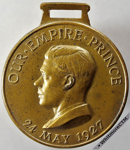 1927 Edward VIII as Prince of Wales Medal obv 38mm Bronze WE6221A2