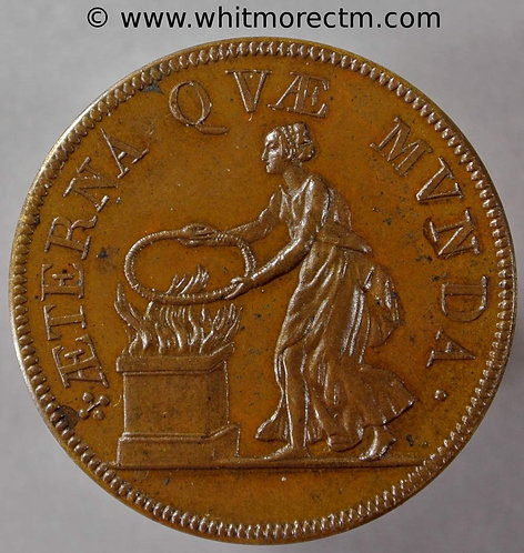 1820 France Souvenir of Henri IV 1572 Medal 29mm Bronze