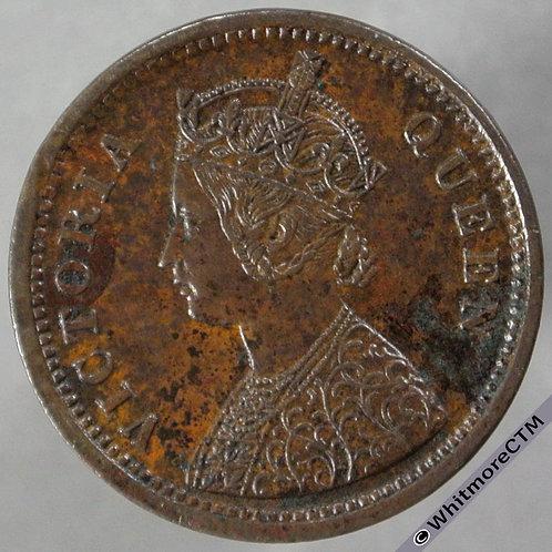 1862C India Half Pice S&W4.179 obv