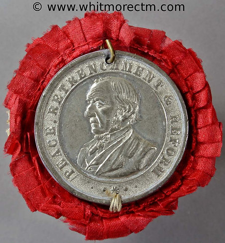 Leeds 1881 Visit of Gladstone Medal 33mm Peace retrenchment reform