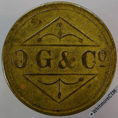 Barber Token O.G. & Co. 1½D