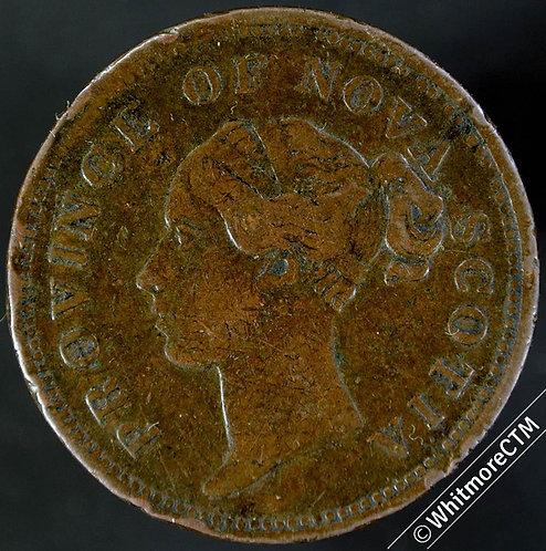 1840 Canada Nova Scotia Penny - Victoria 5 Fringes