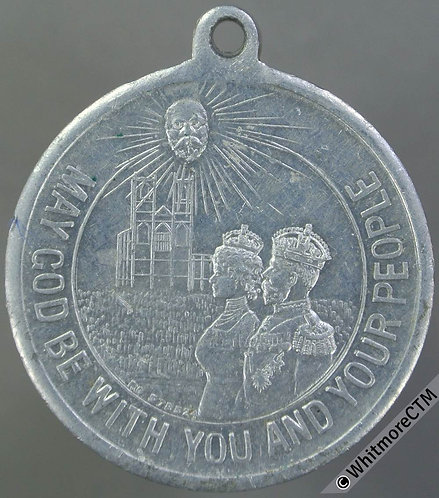 1911 George V Coronation Medal 32mm WE5059 Aluminium - Rare