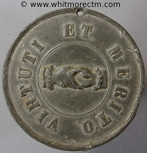 Nottingham Imperial Union of Odd Fellows Medal 41mm White metal. Pierced