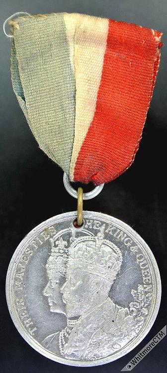 1911 George V Coronation Medal 32mm Not in Whittlestone. White metal