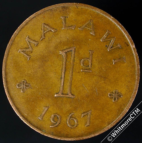 1967 Malawi Penny 1d KM# 6