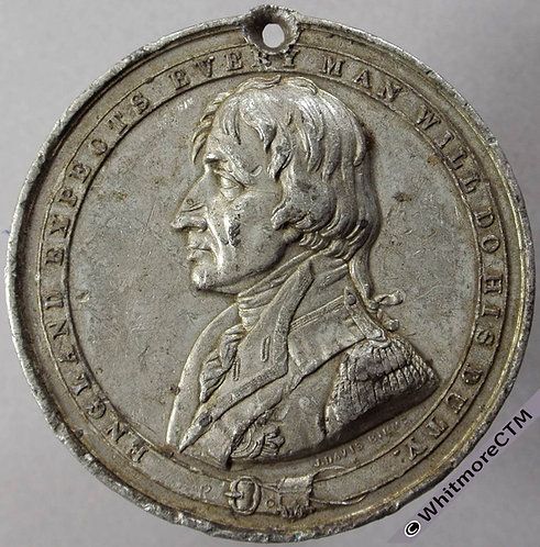 1844 Shipwrecked Fishermen & Mariners Benevolent Society subscription token 44mm nelson obv
