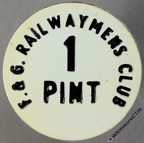 Fishguard & Goodwick Inn / Pub Token 26mm XB2-2767 Railwaymens Club 1 Pint