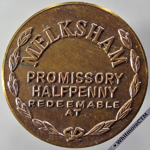 Numismatist Token 1972 F.J.Jeffery Melksham Wilts.  Bronze