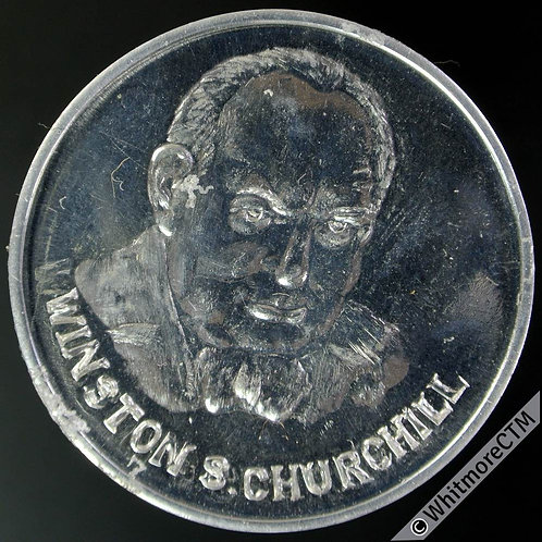 "1965 Winston Churchill Medal 33mm Elephant ""South Africa"" Fantasy by Adams - Alu"
