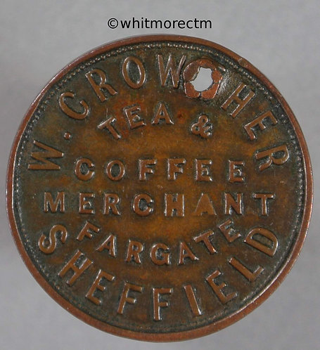 Unofficial Farthing Sheffield 4570 W.Crowther Tea & coffee - Rare
