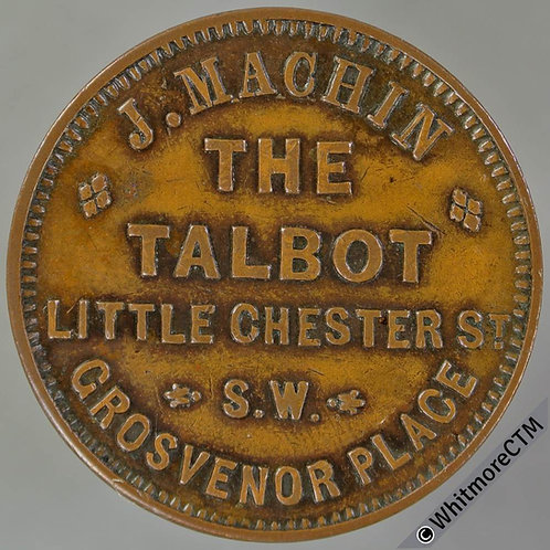 London Pub / Inn Token 28mm The Talbot Grosvenor Place. This value not in Hayes