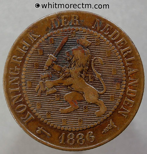 1886 Netherlands Y5 2½ Cents