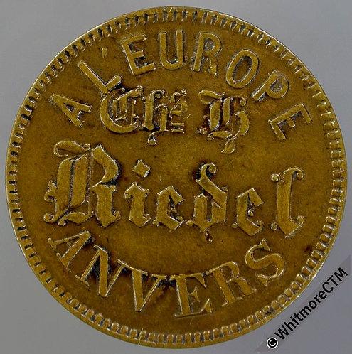 Belgium Anvers 22mm A Lurope Riedel / Bon pour un Verre de Biere - Brass