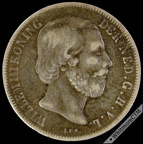 1865 Netherlands 1 Gulden Y10 - Silver