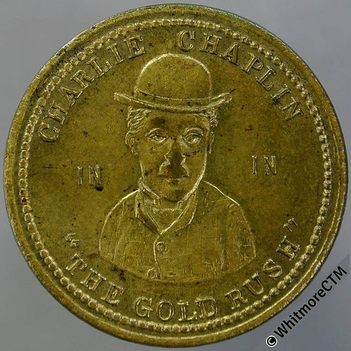 Stockport Cinema Token 26mm 1926 Charlie Chaplin in the Gold Rush - BA365 Brass