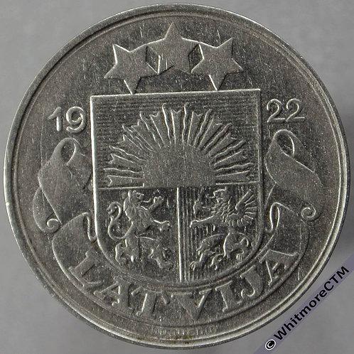 1922 Latvia 50 Santimu obv