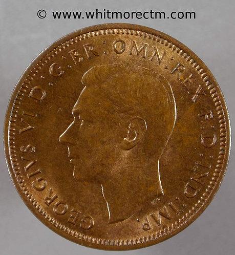 1939 George VI  Bronze Halfpenny - 70% Luster