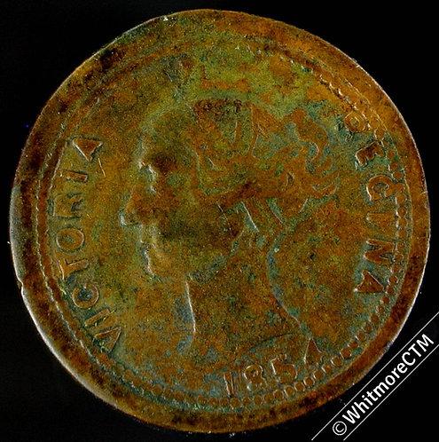 1854 Crimean Battle of Inkerman medal 20mm Rare.  Brass.