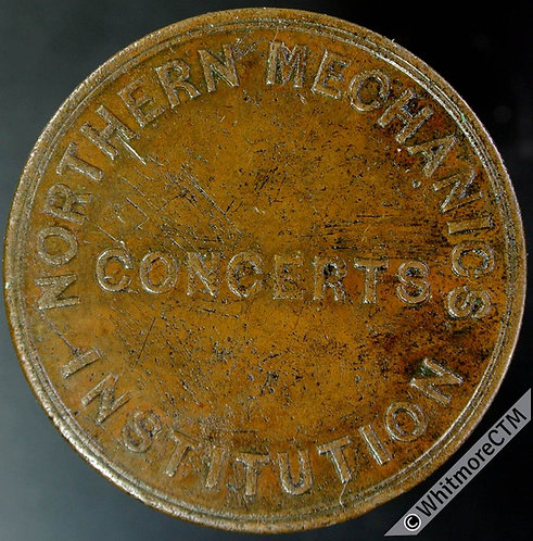 Ticket Pass Token Liverpool The Northern Mechanics Inst Concerts 34mm MG506