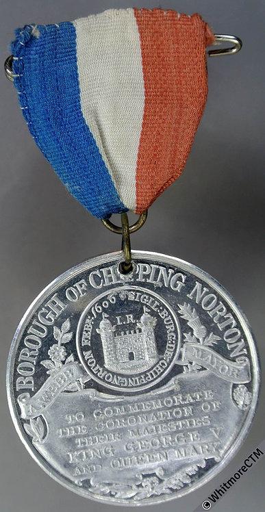 1911 Chipping Norton Coronation of George V Medal 38mm WE5097F Aluminium