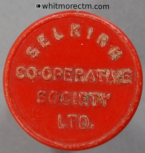 Selkirk (Scotland) Co-Operative Society Token 22mm One Pint - Red plastic