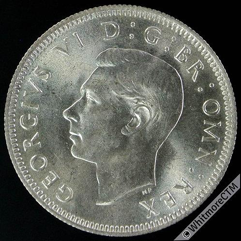 1946 English Shilling George VI - Broad rim on Rev D2121