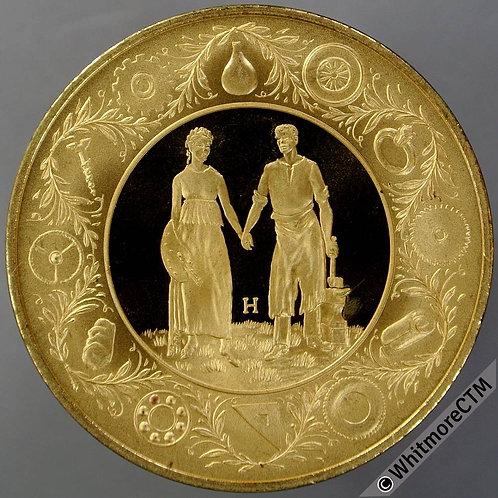 Birmingham 1989 Centenary festival Medal 39mm. Gilt bronze