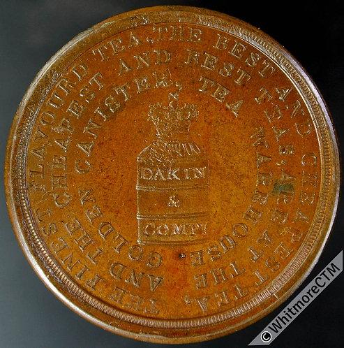 Birmingham Token 28mm Dakin & Co. Seated Chinaman. finest flavoured teas. Bronze