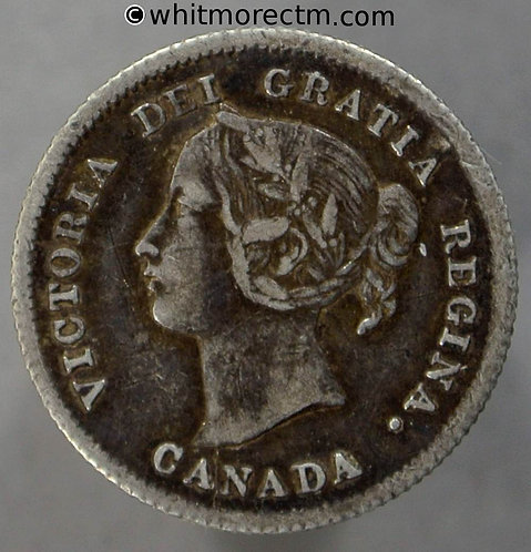 1872H Canada 5 Cent coin