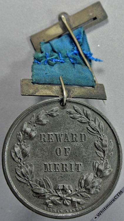 Croydon The Old Palace School Reward Of Merit Medal 45mm White Metal Pierced