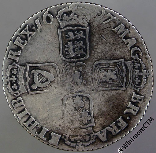 1697 Chester. William III First bust Shilling
