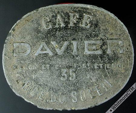 France token St.Etienne 26x21mm Cafe Davier / Bon pour 12½c. By Pichon.