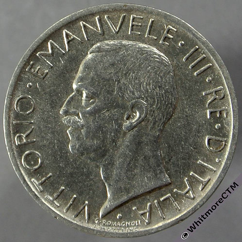 1927 Italy 5 Lire obv
