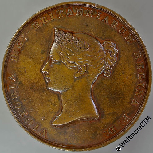 1842 Foundation stone of New Royal Exchange Medal 45mm B2078  W.Wyon Bronze