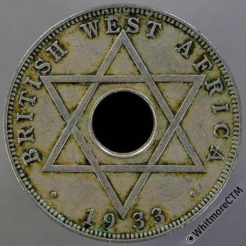 1933 British West Africa Halfpenny Y8