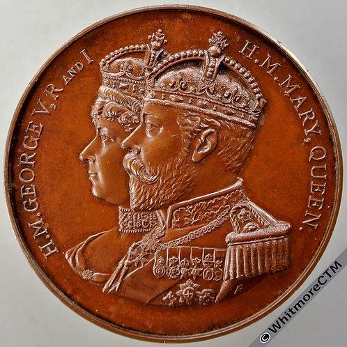 1911 George V Coronation Medal 51mm B4034 By Fenwick, Bronze