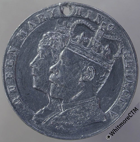 1911 George V Coronation Medal 30mm  WM. Pierced